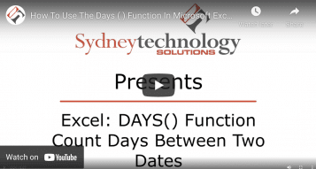 How to Use the DAYS () Function in Microsoft Excel?