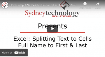 Excel Tip: How to Separate First and Last Names by Splitting Text Cells
